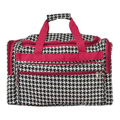 Houndstooth 22 Travel Duffle Bag