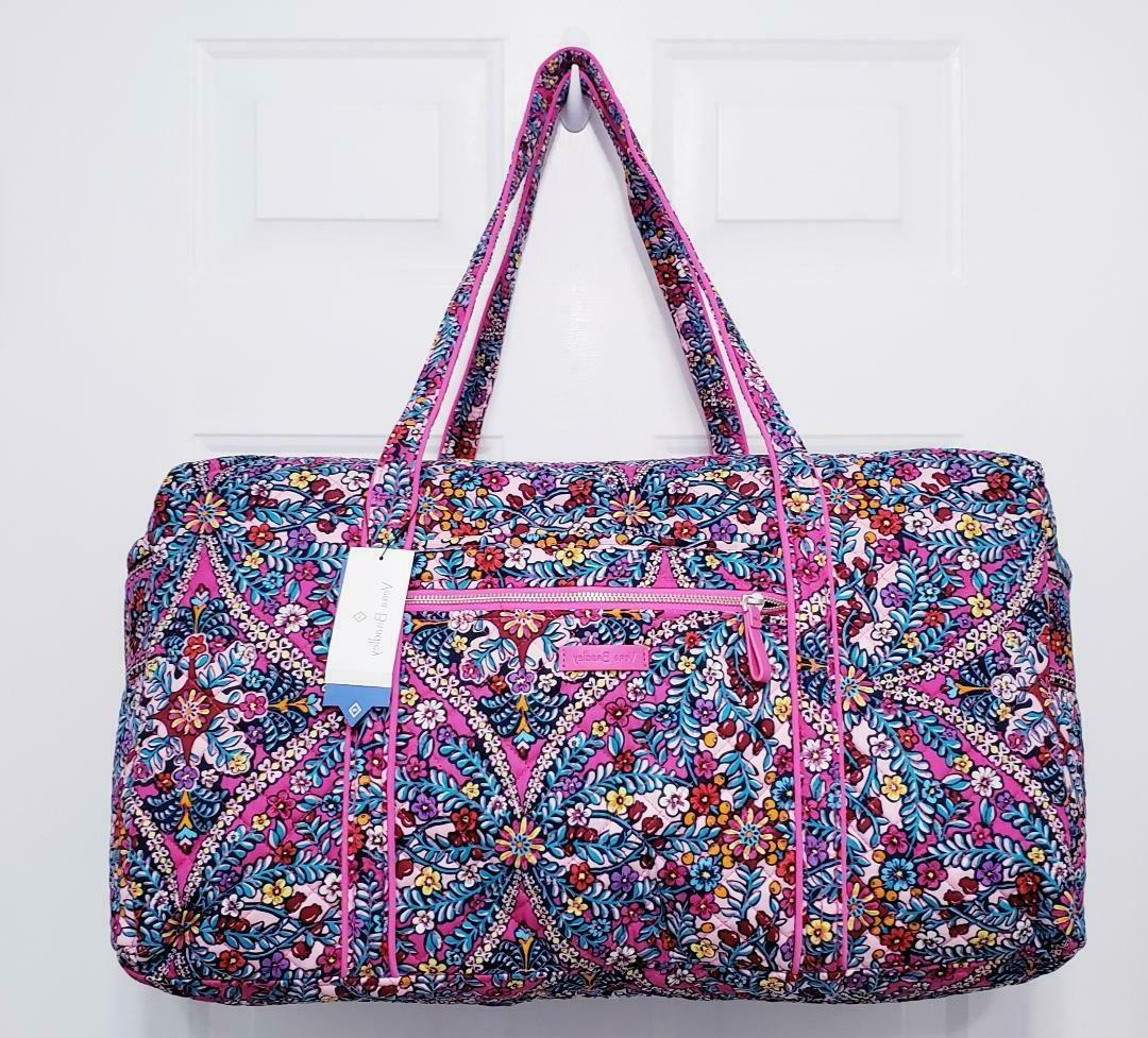 Vera Bradley Iconic Large Quilted Duffel Bag Kaleidoscope NW
