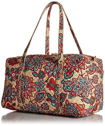 Vera Iconic Large Travel Duffel, Floral, Desert One