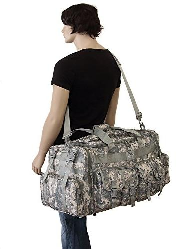 Mens Large Inch ACU Digital Camo Duffle Military Molle Tactical Cargo