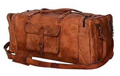 KPL 30 Leather Travel Gym Sports Overnight Weekender