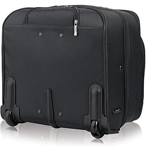 Solo Rolling Laptop Overnighter Case, Black