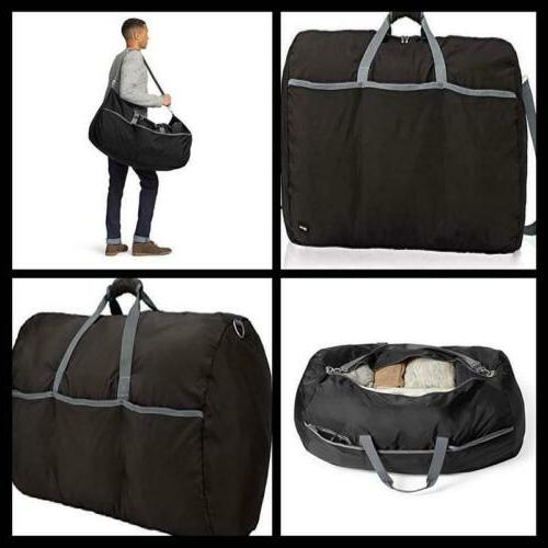 Large Black Nylon Duffel Bag travel Clothes Storage Case Pac