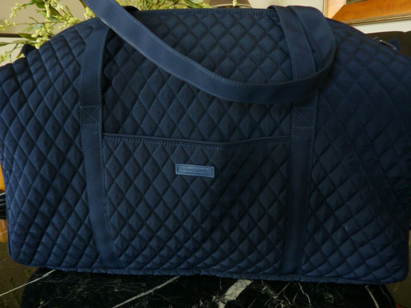 large duffel travel luggage bag classic quilted
