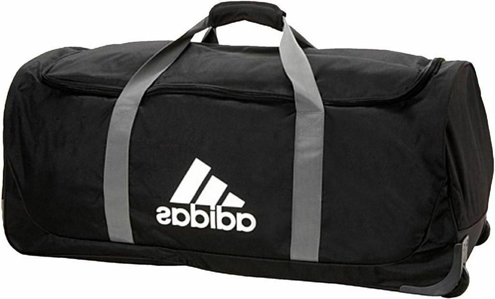 Large Duffel Bag Luggage Wheels Travel Team Sport Kit Rollin