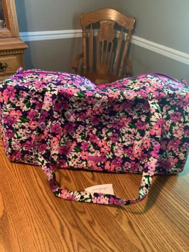 large traveler duffel flower garden traveler bag