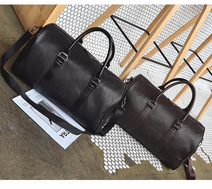 Leather Overnight <font><b>Duffel</b></font> Luggage <font><b>Bags</b></font> Medium