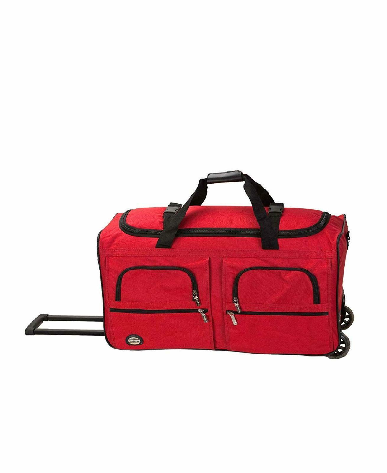 Rockland Luggage 36 Inch Rolling Duffle Bag Color Red Size O