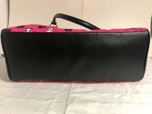 Luv Betsey Johnson LBRUMI Panda Quilted Duffel Tote Travel Weekender Bag Pink