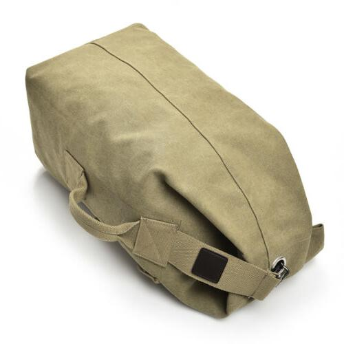 Men's Canvas Hiking Duffle Military