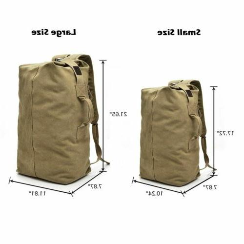 Men's Backpack Hiking Travel Duffle Military Satchel