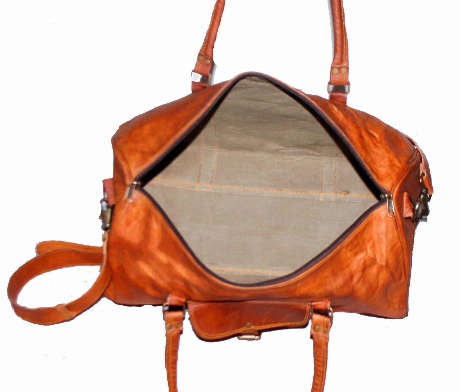 Men's Leather vintage travel weekend overnight tote