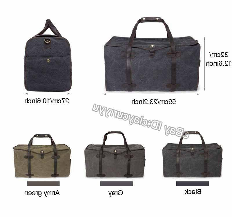 Men's Large Travel Hand Luggage Duffel Pack Canvas Bag