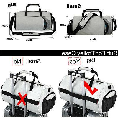 Men Waterproof Nylon Holdall Sport Bag Travel Duffel Luggage