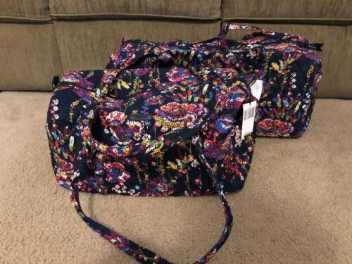 midnight wildflowers small and large traveler duffel