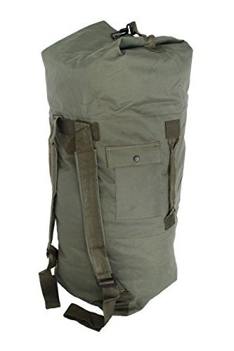 military army double strap duffel