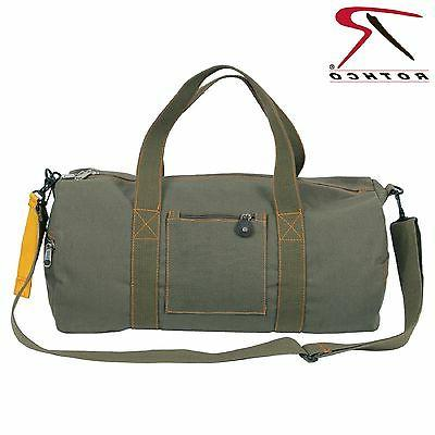 Military Type Olive Green Cotton Equipment Strap