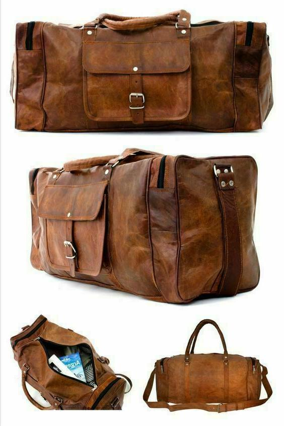 New Hand-Crafted Brown Luggage Sport Bag