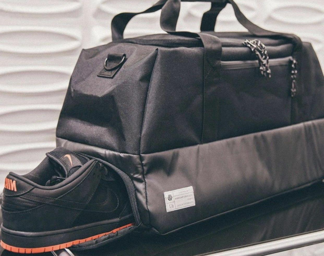new sneaker travel duffle bag matte black