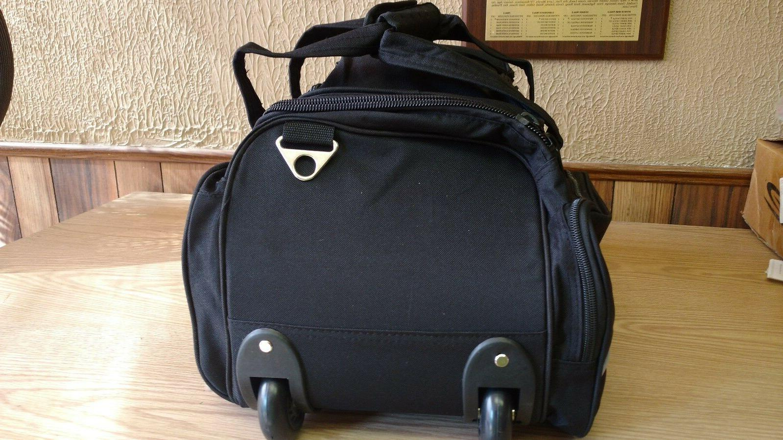 new tags black wheeled duffle travel 20 multile