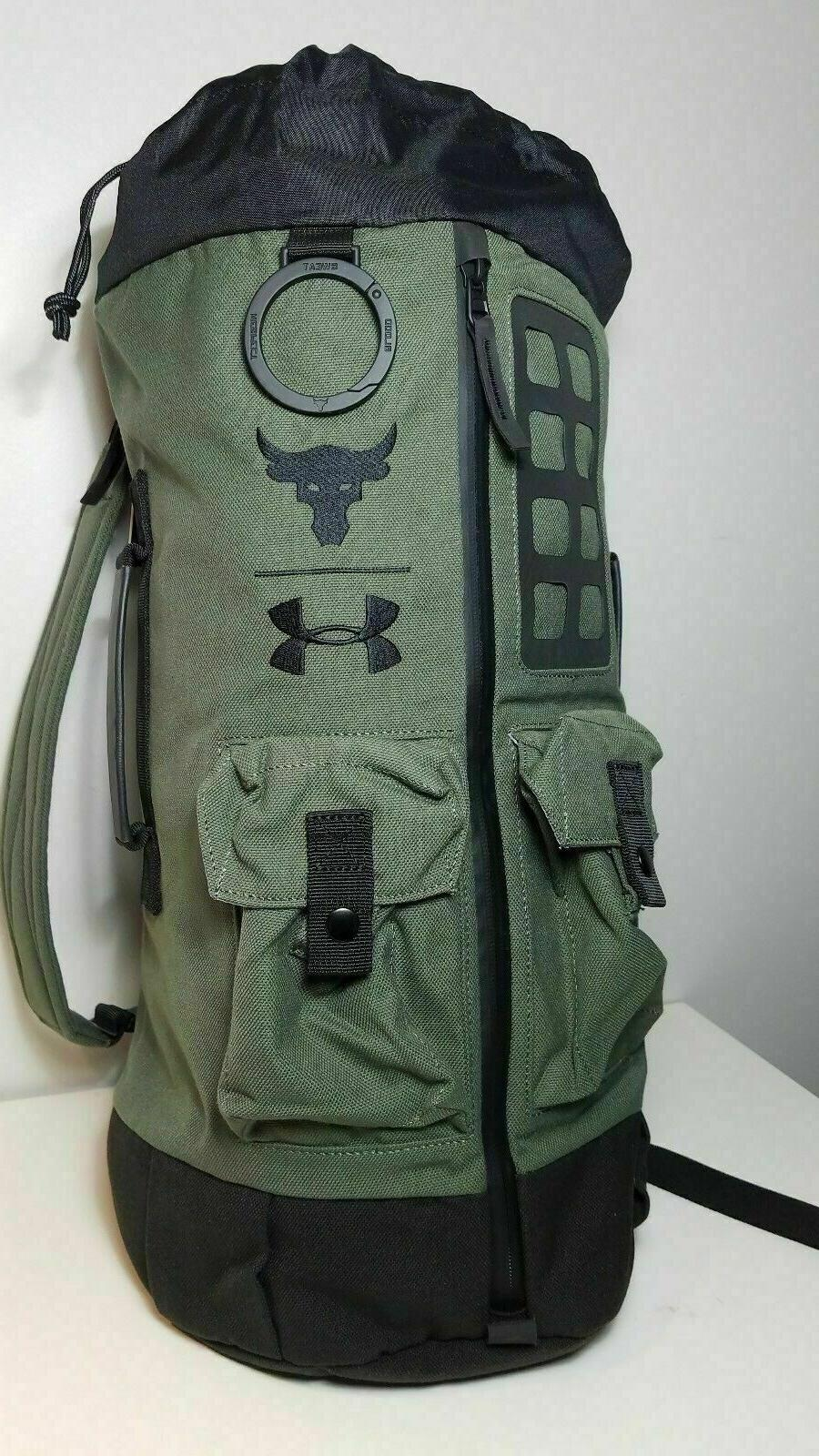 Under Armour NWT Project Rock 60 Duffle Bag Back Pack Green