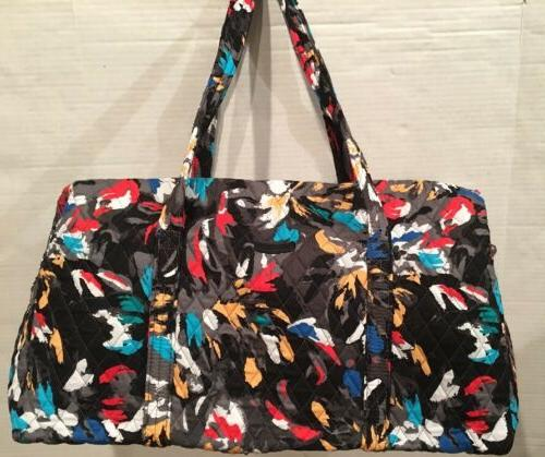 NWT VERA BRADLEY QUILTED LARGE DUFFEL GYM TRAVELLING BAG SPL