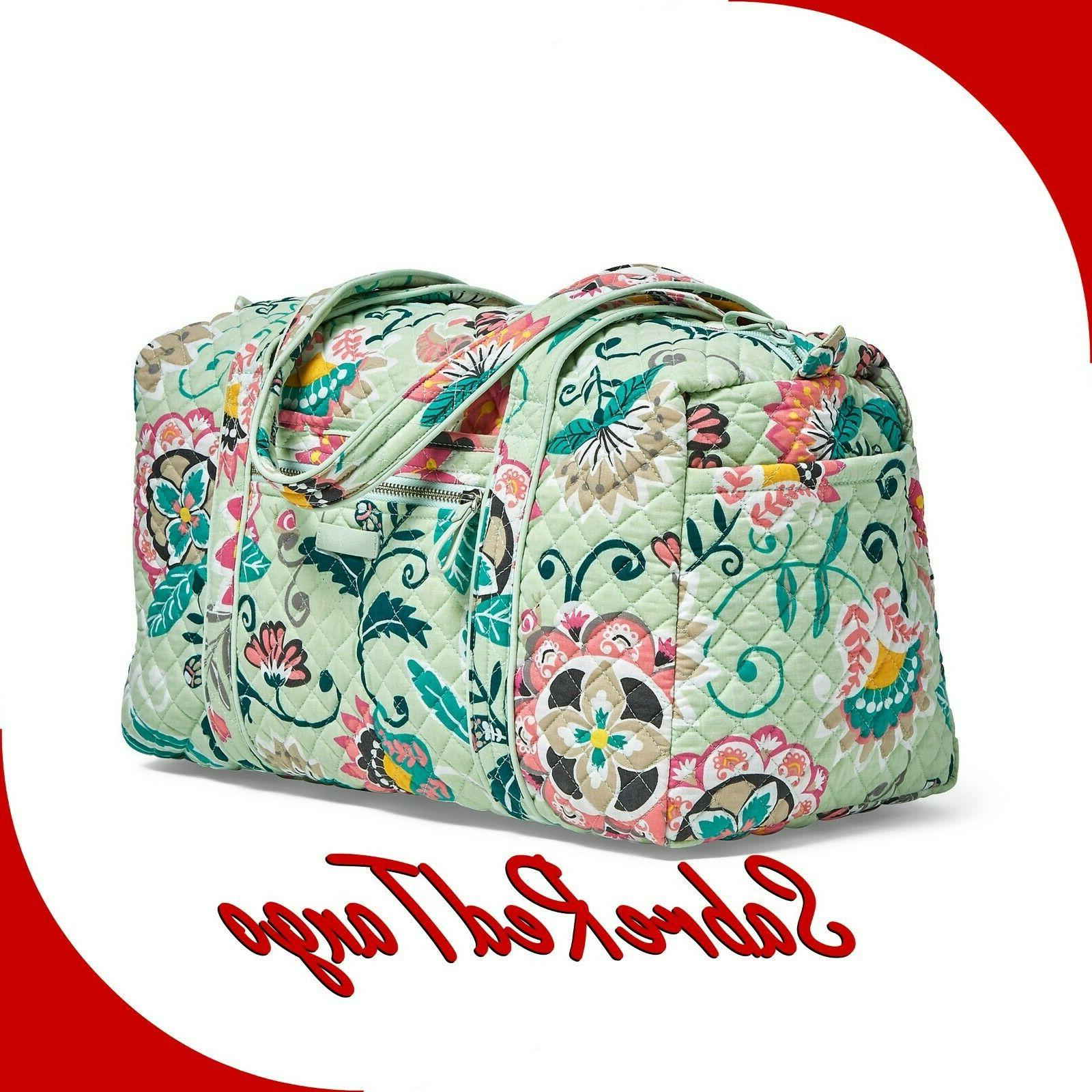 NWT VERA ICONIC BAG FLORAL MINT