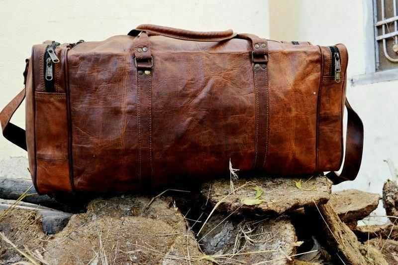 Old Brown Duffle Bag Luggage