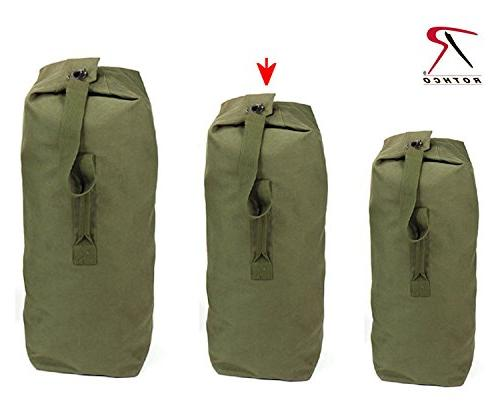 Olive Drab Jumbo Top Load Canvas Duffle Bag