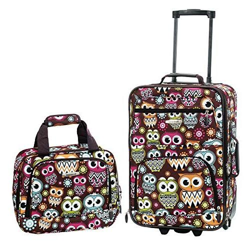 owl luggage set