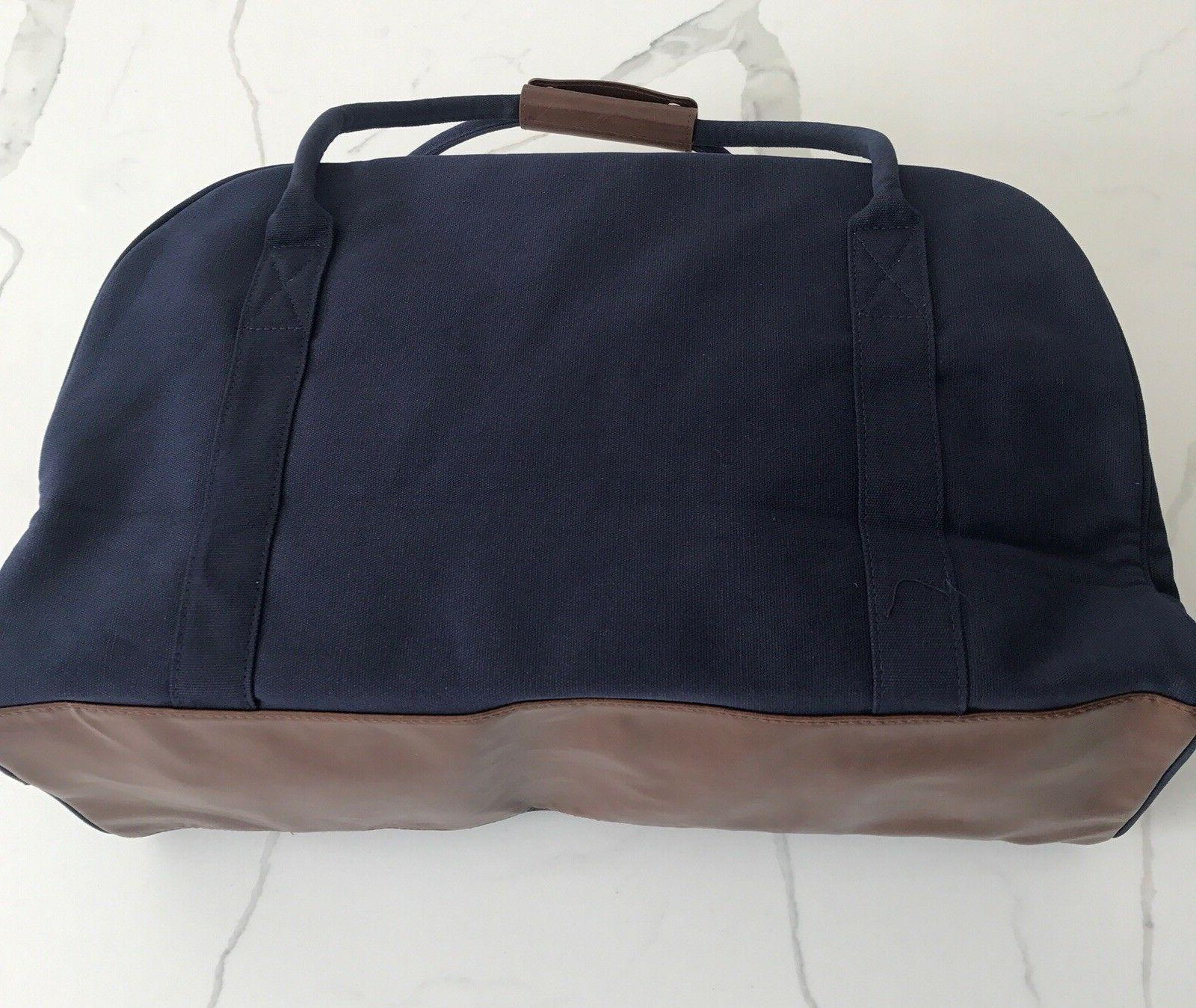 RALPH LAUREN polo navy blue duffle bag weekender carry-on travel gym