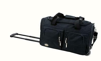 rolling duffle bag travel luggage 22 inch