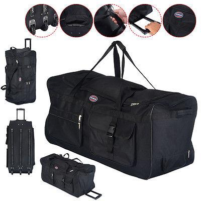 "36"" Rolling Wheeled Tote Duffle Bag Luggage Travel Duffle Su"