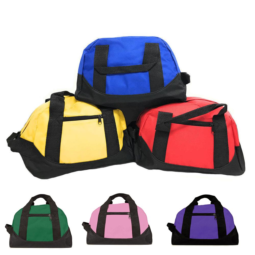 small 12 inch two tone duffle travel
