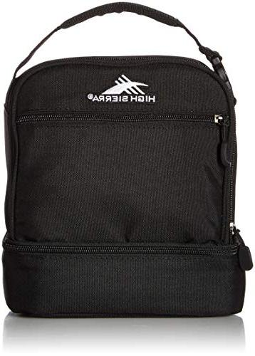 939f580c82e2d1 High Sierra Stacked Compartment Lunch Bag, Black