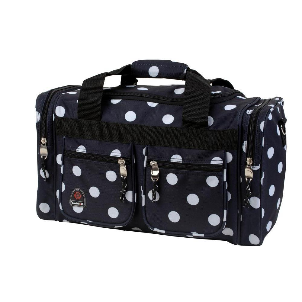 TOTE Bag Double Wheels Travel Luggage Duffle Bags Pocket