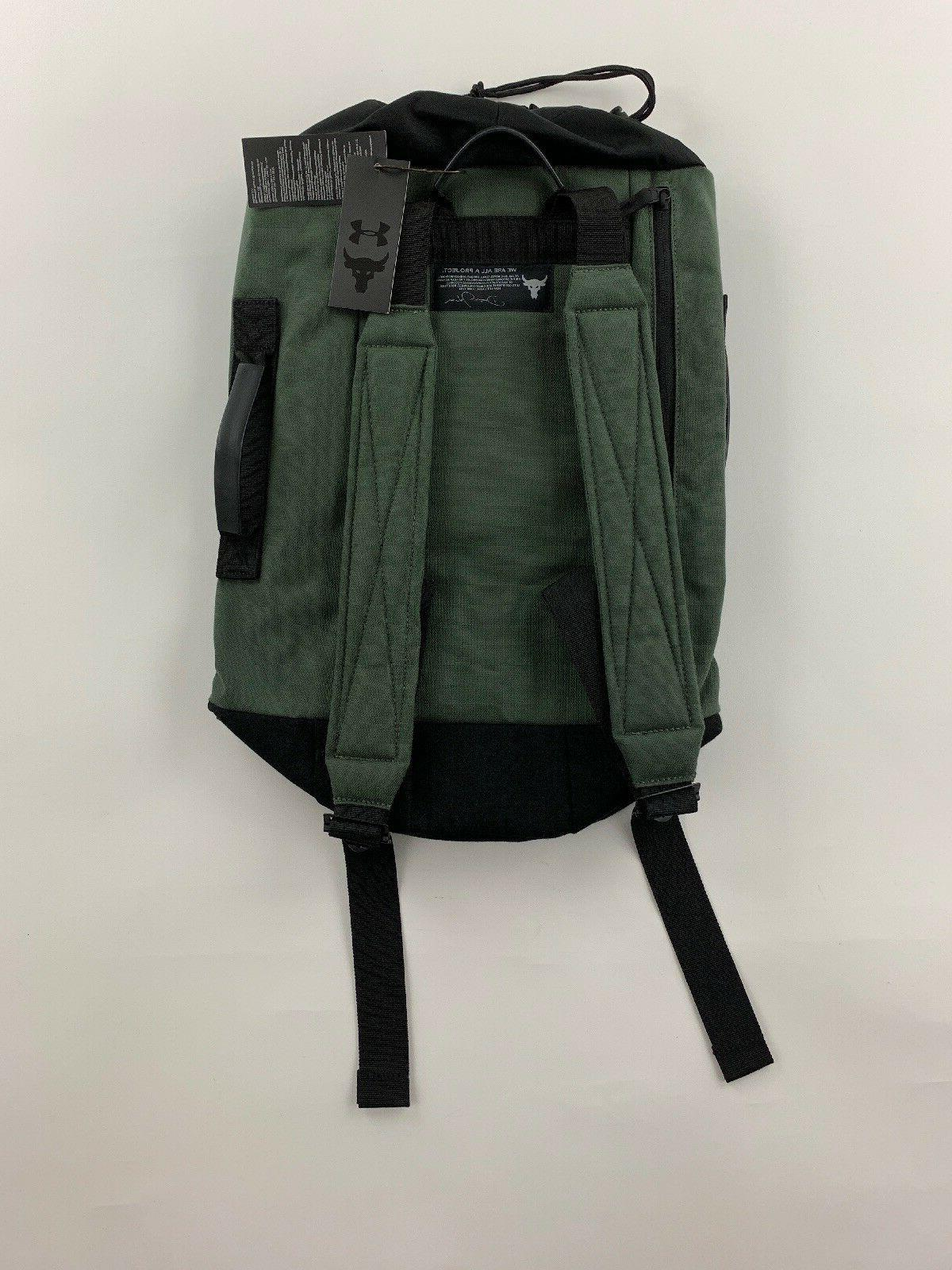 UA Under Armour Project 60 Green Duffle Bag Backpack NWT