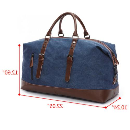 Vintage Canvas Duffle Gym Handbag Shoulder Luggage
