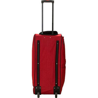 "Rockland Luggage 4 40"" Rolling Colors Softside Checked"