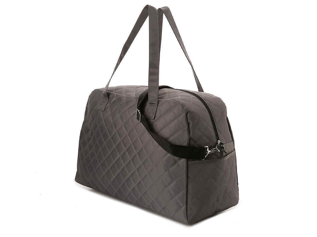 DSW QUILTED TRAVEL BAG GRAY