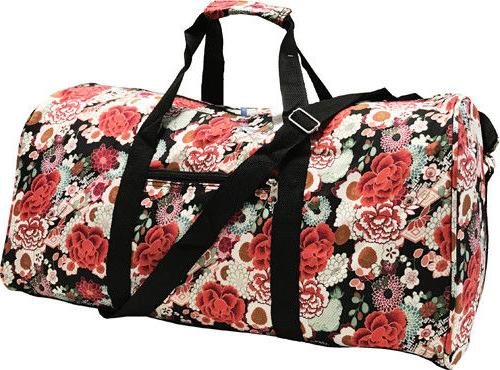 """22"""" Women's Floral Print Gym Dance Cheer Travel Carry On Duf"""