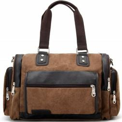 Large Capacity Men Luggage Leather Travel Shoulder Bags Duff
