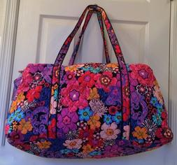 Vera Bradley Large Duffel Bag In Floral Fiesta