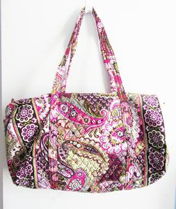 large duffel bag very berry paisley
