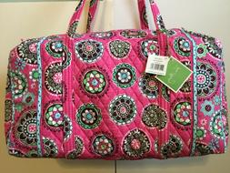 large duffle weekender bag retired cupcakes pink