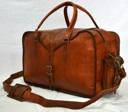 Large Men's Leathe  BriefcaseVintage Duffle Luggage Weekend