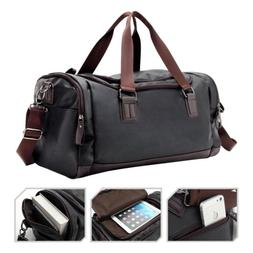 Large Men's Leather Travel Duffle Bag Weekend Gym Bag Should