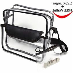 Largest Stadium Security Approved Clear Bag with Handles / A