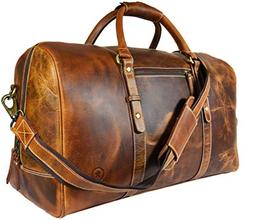 leather travel duffle bag gym sports bag