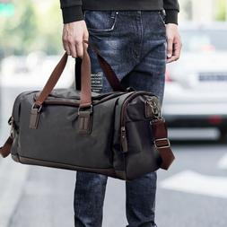 Leather Travel Tote Luggage Oversized Men Weekend Gym Should